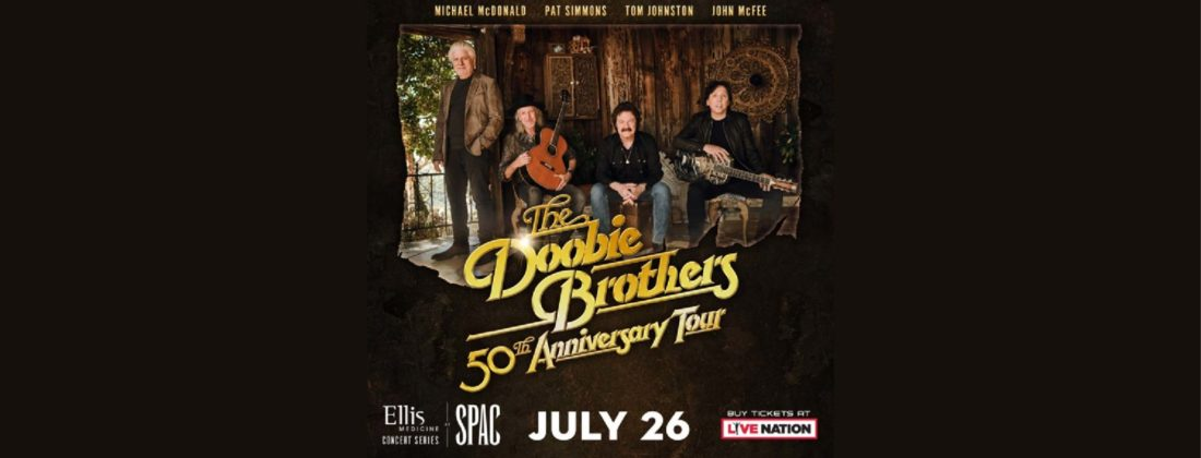 The Doobie Brothers with Tom Johnston, Michael McDonald, Pat Simmons and Jon McFee